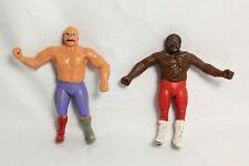 WWF LJN Bend Ems Iron Sheik + Junkyard Dog Wrestling Figure 1985 WWE WCW 1985