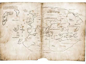 Vinland, First Map of Americas, Discovered by Vikings, Very neat item