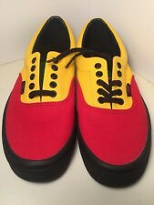 "Vans ""Off The Wall"" Rasta Red Skateboarding Casual Shoes Size 9.0 New With Box"