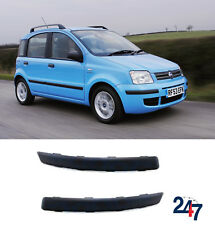 NEW FIAT PANDA 2003 - 2012 FRONT LOWER BUMPER BLACK MOLDING PAIR LEFT RIGHT