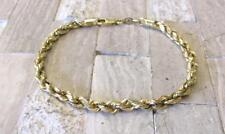 "14KT Yellow Gold 4.3mm Rope Link Bracelet; PERU ~ 7-3/4"" ~ 4.6 grams ~ CS-454"