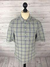 ALLSAINTS Shirt - Medium - Check - Short Sleeved - Linen Blend - Great Condition