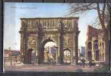 Postcard 0110 Italy Rome Vintage pre 1940 architecture arch Constantino Brunner