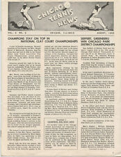 """1949 """"Chicago Tennis News"""" Newsletter (8 Pages, Great Articles & Ads, Nice)"""