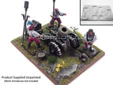 Resin Artillery Movement Tray Base Unpainted - Cannon Mortar - Warhammer Empire