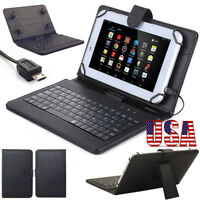 "Stand PU Leather Case Cover Micro USB Keyboard For Lenovo Samsung Tab 10"" Tablet"