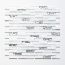 Mosaikmatte Mosaikfliesen Mosaik Verbund Crystal Artifical mix silber weiß glänz