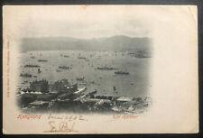 1902 Victoria Hong Kong RPPC POSTCARD cover To Seoul Korea Via Japan Harbour