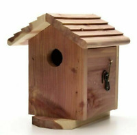 PENNINGTON RED CEDAR BIRD HOUSE Wild Birds Small Cavity Outdoor Nesting Box Wood