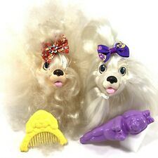 Sweetie Pups Vintage 1989 Maltese & Toy Poodle with Brush & Comb Lot