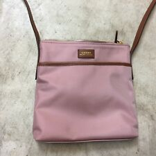 NEW lauren Ralph Lauren Chadwick Medium Nylon Crossbody Bag purse pink