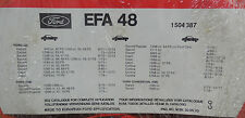 Ford Capri Cortina Escort Transit Luftfilter 1504387  -   711F-9601-AB  -  EFA48