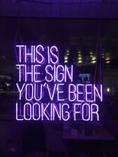 This Is The Sign You Have Been Looking For Neon Light Sign Bedroom Beer Bar Pub