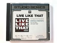 Studio Series - Sidewalk Prophets - Live like that - accompaniment track cd new
