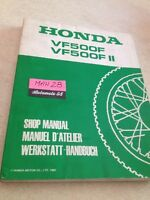 Honda VF500F F2 VF500 F VFF 500 VF500F2 manuel revue technique atelier