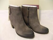 CLARKS Palma Rylie Taupe Tan Suede Leather Ankle Boot Size 9.5 EU 41 NIB $150