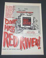 Original 1948 Print Ad RED RIVER Howard Hawks John Wayne Movie Ad
