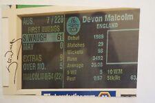 Cricket Collectable - 1994 - Colour Photo - Stumps - Steve Waugh - signed