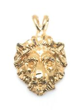 Lion Pendant Charm Yellow Gold Plated Metal For Necklace Chain Christmas Gifts