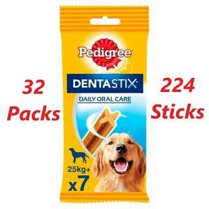 224 Pedigree Daily Dentastix Dental Dog Treats Large Dog Chews Teeth Cleaning
