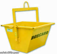 Boscaro Heavy Duty 60 Litre Scaffold Hoist Lifting Tipping Muck Skip Bucket