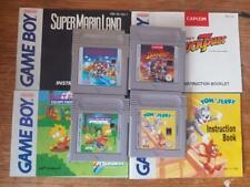4 Nintendo Gameboy Paquete De Juegos Super Mario Land Cuentos de pato Tom y Jerry manuales