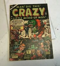 CRAZY #3 1954 MARVEL ATLAS GOLDEN AGE HORROR HUMOR beatnik dig this mag precode!