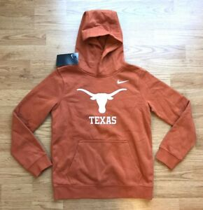Nike University of Texas Boys Club Fleece Hoodie Boys' Size M Longhorn