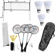 Jeu Kit de Badminton 4 Joueurs Extérieur Plein Air- Filet, Raquettes, Volants