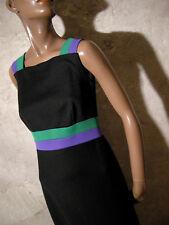 CHIC VINTAGE ROBE LONGUE 1970 TRUE VTG MAXI DRESS 70s KLEID 70er ABITO (36/38)