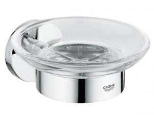 Grohe ESSENTIALS SOAP DISH 125x58mm Concealed Fastening CHROME *German Brand