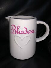 Personalised Flower Jug Ideal Gift For Mothers Day Welsh Or English Blodau Mami