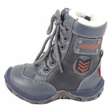 NEW BABY BOYS FAUX LEATHER ZIP FUR BOOTS LACES WINTER WARM FIRST WALK SNOW SHOES