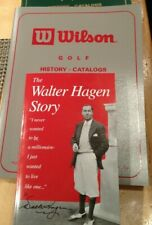 Vintage Golf Books- Wilson History Catalogs by Jim Kaplan & Walter Hagen Story