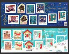 JAPAN 2016 WINTER GREETING 52 & 82 YEN 2 SOUVENIR SHEETS OF 10 STAMPS EACH USED