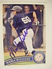 MASON WILLIAMS signed YANKEES 2011 Topps Pro Debut baseball card AUTO Autograph