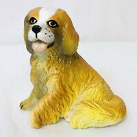 "VTG New-Ray Soft Rubber Cavalier King Charles Spaniel Dog Toy Figure 2 1/2"" Tall"