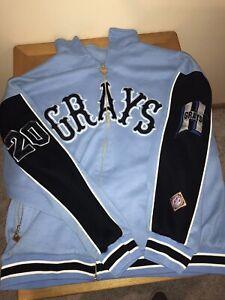 Josh Gibson Homestead Grays Negro Baseball League Zip Up Sweatshirt Sz XXXL NLBM