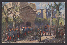 ALLEMAGNE 1916 field post illustré Carte postale couverture Feldpost LONGWY ruines Wilhelm
