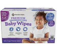 Member's Mark Premium Fragrance Free Baby Wipes, 1152 ct. New Free Shipping