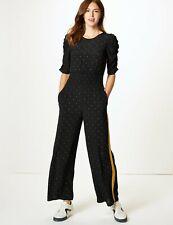 Ellos Size 8-16 UK Ladies Womans Black White Summer Evening Jumpsuit Play suit
