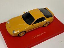 1/18 GT Spirit Porsche 968 Club Sport in Speed Yellow  GT129 on Red Leather Base