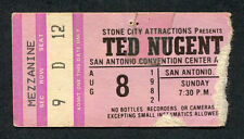 1982 Ted Nugent Concert Ticket Stub San Antonio TX Cat Scratch Fever