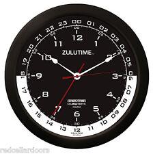 "Trintec Zulu Clock 12 & 24 Hour Dual Time UTC Military SWL Ham Shack  ZT144 14"""
