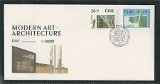 IRELAND  # 689-690 MODERN ART-ARCHITECTURE EUROPA 1987 First Day Cover