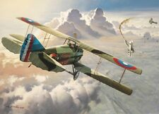 """""""Last Victory"""" Roy Grinnell Aviation WWI Print co-signed by Lt A. Raymond Brooks"""