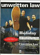 Unwritten Law Holiday Trade Ad Poster of self titled Cd