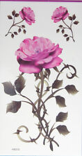 Big Pink Camellia Japonica Temporary Tattoos HM200 New Arrival!!