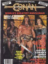 1984 CONAN movie magazine ( STARBLAZER ) ARNOLD SCHWARZENEGGER