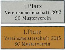 Pokal-Schild, Schilder (Pokale, Trophäe) Gravurschild, Pokalschild, Gravur